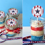 Cupcake In A Jar For The 4th Of July