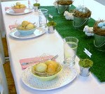 DIY Grass Table Runner For Easter