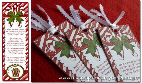And print click here to get free legend of the candy cane bookmarks