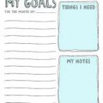 Free Goal Sheet Printables