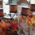 Simple Thanksgiving Table Candles