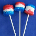 Sparkle Marshmallows On A Stick – 4th of July