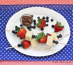 Dessert Kabobs For The 4th of July