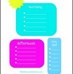 Kid Daily Planner Sheets