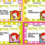 $1 Spring Coupons At Mc Donalds