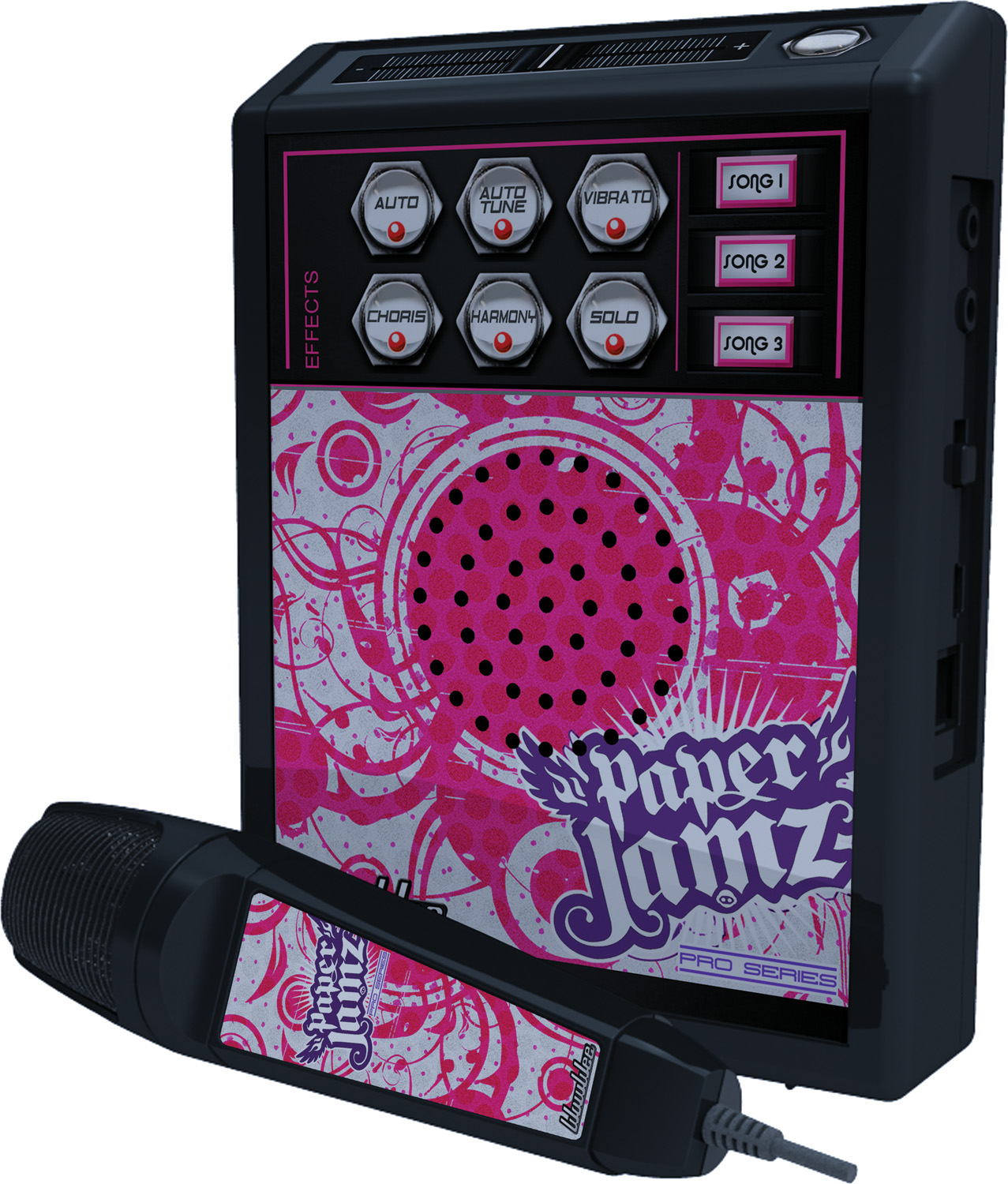 paper jamz pro mic The paperjamz pro series microphone provides hours of karaoke entertainment for your kids jam out to your favorite songs & use special vocal effects to be your own rockstar.