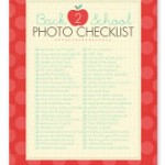 Free – Photo Check List For Back To School
