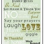 FREE – Family Rules Printable Art