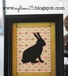 DIY Framed Bunny Silhouette