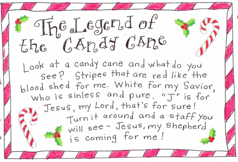 Legend Of The Candy Cane - FREE Printables - 24/7 Moms