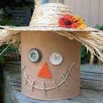 Create a Coffee Can Scarecrow