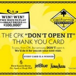 Two ways to WIN California Pizza Kitchen