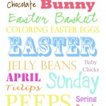 Easter Subway Art – Free Printable