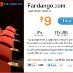 MOVIE DEAL – 2 Fandango movie tickets for $9.00