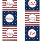 FREE 4th of July Cupcake Toppers