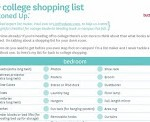 Freebie College Shopping List