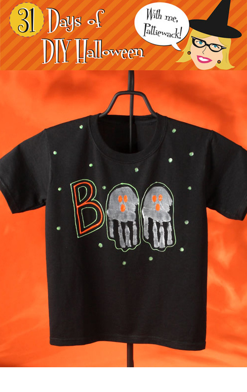 bb04ef2fe4f DIY Kids - BOO T-shirt for Halloween - 24 7 Moms