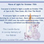 October 15th Pregnancy and Infant Loss Rememberance day