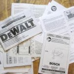 Organizing Instruction Manuals, Receipts and Warranties