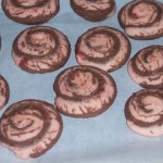 E-Cookie Exchange – Chocolate-Cherry Pinwheels
