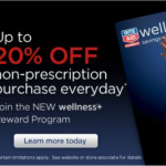 Rite Aid up to 20% off everyday with the Wellness reward card