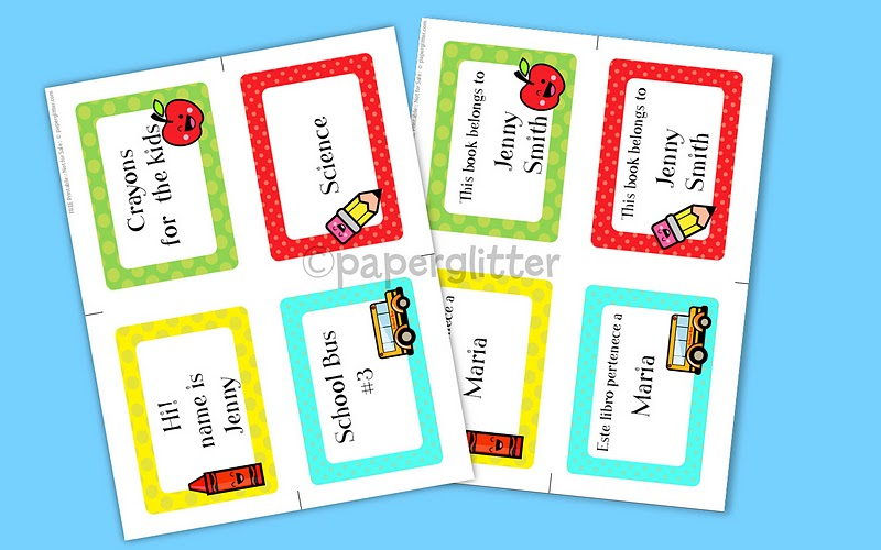 Free Labels For Back To School Books Notes And More 247 Moms - Free-printable-preschool-books