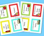 Free Labels For Back To School – Books, notes and more