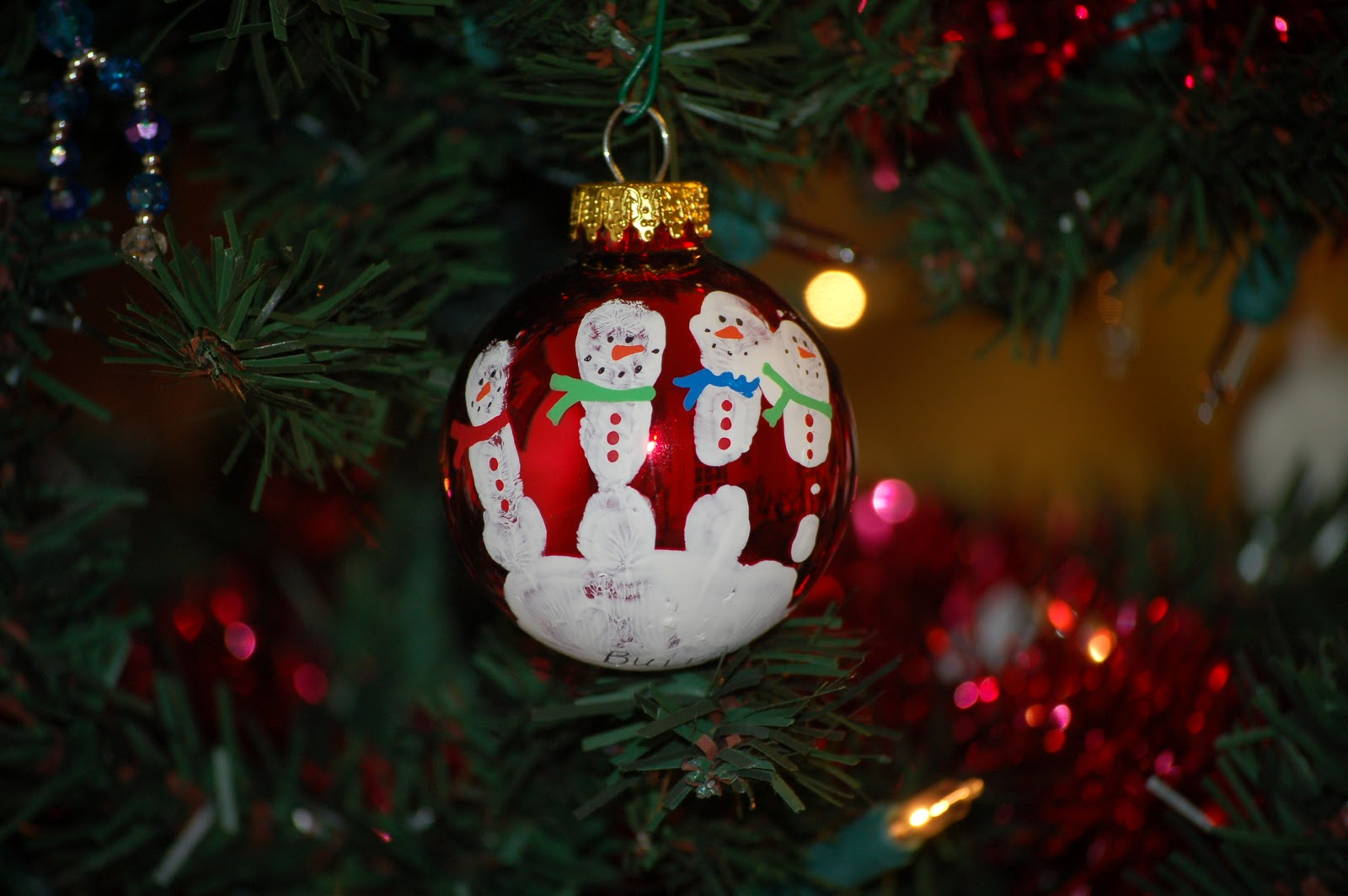 Handprints And Fingerprints For Gift Giving