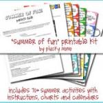 Free Summer Fun Kit – Summer Bucket List Fun