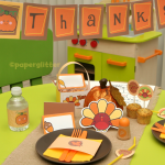 Free Thanksgiving Party Kit- Party Favors, Banner, Labels, Invites and more