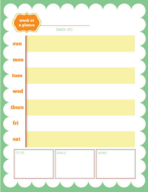 Free week at a glance printable 24 7 moms for Day at a glance calendar template