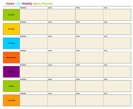 weekly meal planner free
