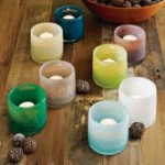 WIN – West Elm Colored Glass Tealight Holders
