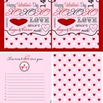 Things I Love About You –  Free Valentine Printable