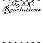 Free 2012 Resolution Printable