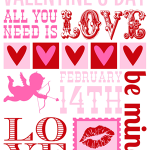FREE Valentines Day Subway Art Printable