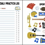 Free Printable Practice Sheets For Music and Sports