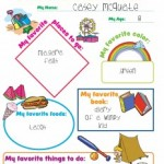 Free All About Me Printables