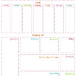 Free Menu and Grocery Shopping Printables