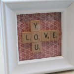 Scrabble Art For Valentines Day