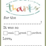 Free Kids Thank You Cards
