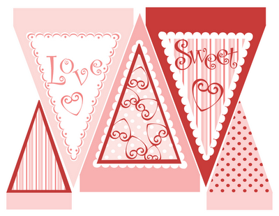 Free Printable Banner For Valentines Day 24 7 Moms