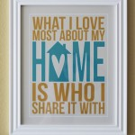 What I Love About Home Free Printable