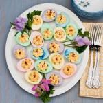Colored Stuffed Deviled Eggs