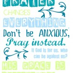 Free Prayer Changes Things Printable