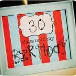 Free Birthday Countdown Printable