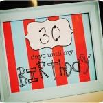 Free Birthday Countdown Printable