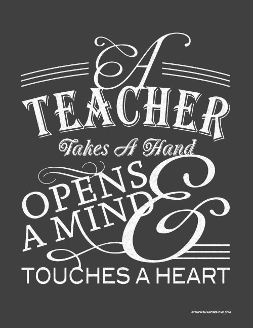 Sweet Teacher Quotes: Teacher Appreciation Quote To Print And Frame {Free