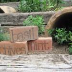 DIY Brick Herb/Garden Markers