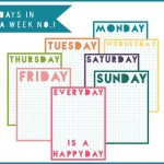 Days of the Week Journaling Cards